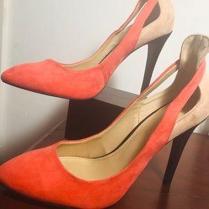 """Orange &beige 3"""" stiletto"""